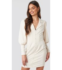 na-kd trend button front mini dress - nude