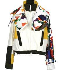 sacai sacai layered bomber jacket