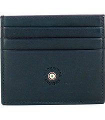aeronautica militare petrol blue mens card holder