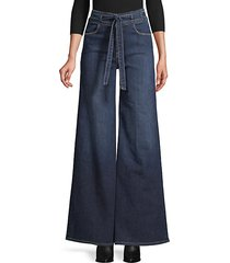 le palazzo belted jeans