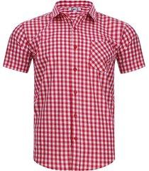 camisa a cuadros con bolsillo