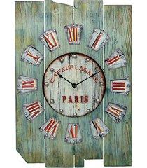 relógio kasa ideia de parede retrô 57x40cm