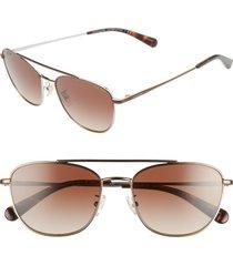 women's coach 55mm aviator sunglasses -