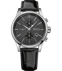 boss hugo boss men's chrono leather wrist watch