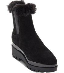 dkny bax wedge lug sole booties