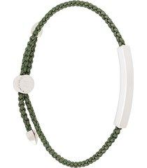monica vinader linear khaki green friendship bracelet