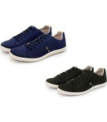 kit 2 pares de sapatênis casual trivalle shoes azul