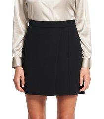 theory women's staple wrap mini skirt - black - size 14