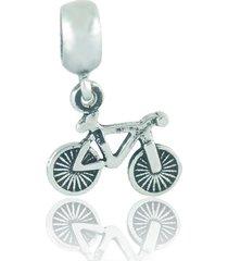 berloque  lua pratas bicicleta prata