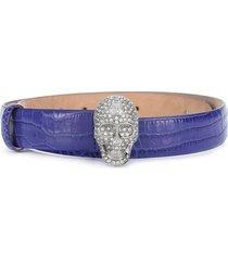 philipp plein skull crystal belt - purple