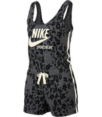 mono negro nike leopard mujer gris