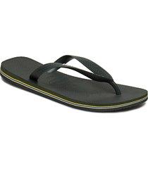 brasil logo flip flop shoes summer shoes flip flops grön havaianas