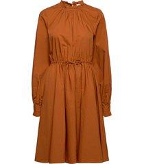 manela jurk knielengte bruin custommade