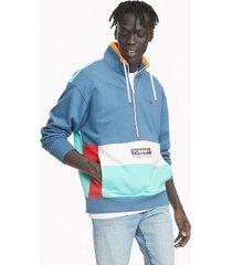 tommy hilfiger men's essential half zip sweatshirt marching blue - m