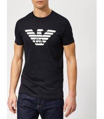 emporio armani men's large eagle logo t-shirt - navy - l - blue