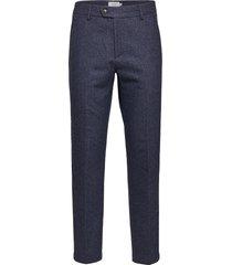pavia wool herringb suit pants kostuumbroek formele broek blauw les deux