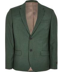 river island mens big and tall green skinny fit suit jacket
