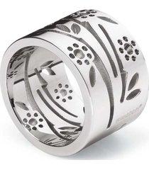 anillo plateado swatch