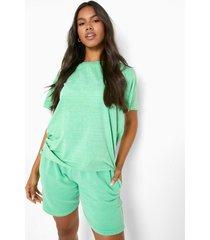 overdye sweat shorts, green