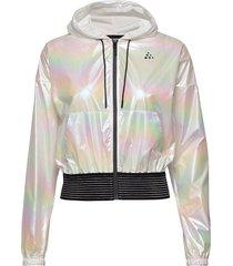 unmtd shiny hood jkt w outerwear sport jackets multi/mönstrad craft