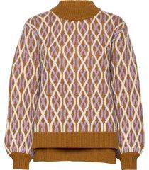 anders, 726 cable knitwear stickad tröja orange stine goya