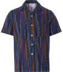 paul smith stripe vacation shirt | black | 832t-f21143