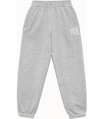 alexander wang pantalone terry classic grigio