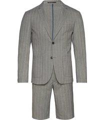 striped suit w/shorts kostym grå lindbergh