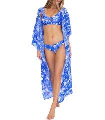 trina turk basque kimono cover-up women's swimsuit