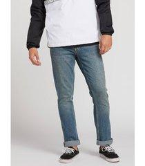 jeans volcom men's vorta denim pant slate blue