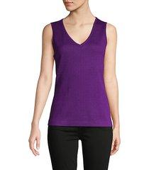 wool-blend sleeveless top