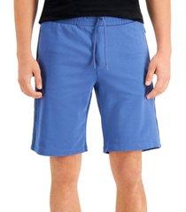 guess men's eco arlo logo taped drawstring shorts