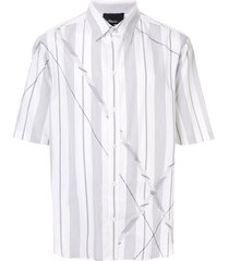 3.1 phillip lim argyle patchwork short sleeve shirt - white