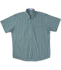 camisa manga curta xadrez rodeo western masculina