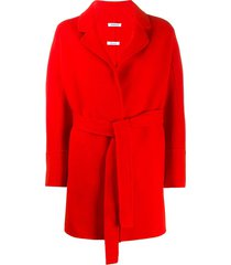 p.a.r.o.s.h. belted fine knit coat - red