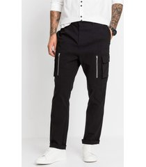 cargo broek, slim fit straight