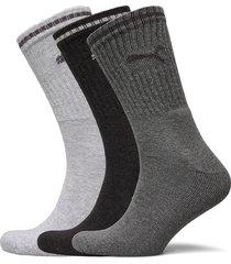 puma crew sock stripe 3p underwear socks regular socks grå puma