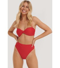 na-kd swimwear maxi highwaist bikini panty - red