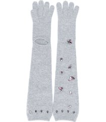 dorothee schumacher modern opulence logn knitted gloves - grey