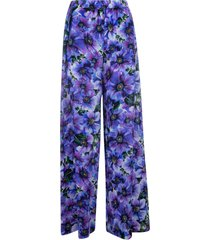 all-over floral printed trousers