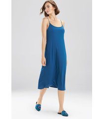 natori shangri-la nightgown, women's, blue, size m natori