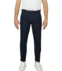 berwich retro dark blue chino trousers