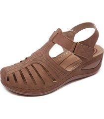 sandalias de mujer sandalias cómodas de cabeza redonda