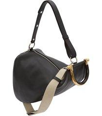 jw anderson wedge shoulder bag - black