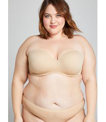 lane bryant women's multi-way boost strapless bra 40b cafe mocha