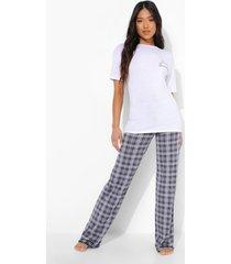 petite hello beautiful pyjama set met broek, grey marl