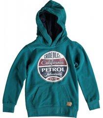 petrol groene sweater hoodie