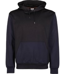 paul smith black and navy cotton blend hoodie