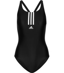 sh3.ro mid 3-stripes swimsuit w baddräkt badkläder svart adidas performance