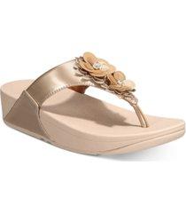 fitflop lulu flower toe-thong sandals women's shoes